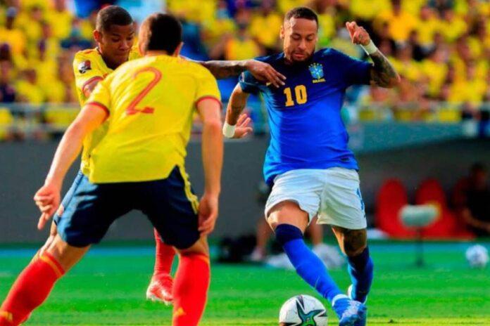 โคลอมเบียยันเจ๊าบราซิล 0-0 คัดบอลโลก อเมริกาใต้ ทีมชาติ